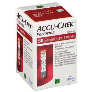 Bandelettes 50 ACCU-CHEK® Performa