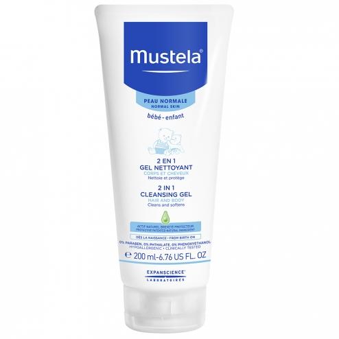Mustela gel nettoyant 2 en 1 corps et cheveux peaux normales 200ml