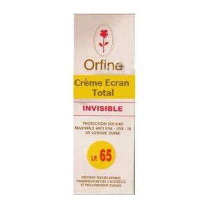 Orfine crème invisible SPF 50+
