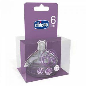 Chicco Tétine Silicone Step Up 3 - Flux Rapide - 2 Pièces