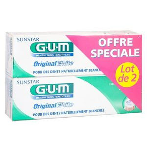 GUM DENTIFRICE ORIGINAL WHITE 2X75ML