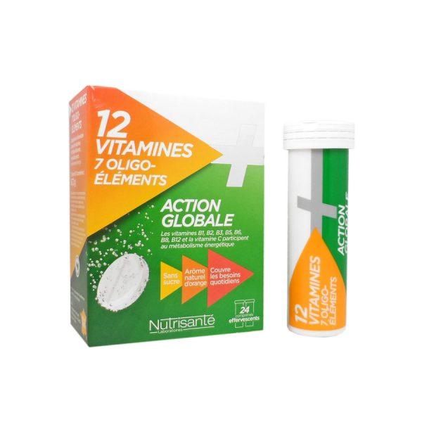 Nutrisanté - 12 Vitamines + 7 Oligo-éléments Action globale