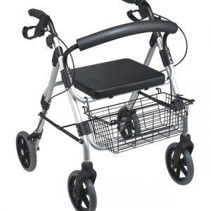Rollator 4 roues avec siège et dossier