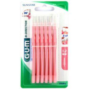 Gum - Bi direction brossettes interdentaires 2614 1.2mm - 6unités