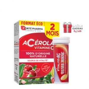 Forté Pharma Acérola Vitamine C – 60 Comprimés + Ultra boost 4G Offert