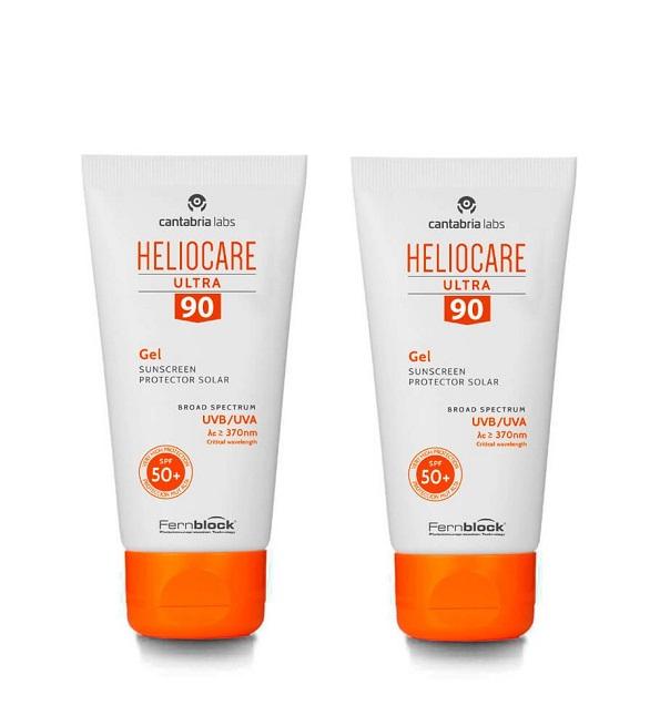 Heliocare – Heliocare Ultra 90 Gel SPF50 – 50ml Lot de 2